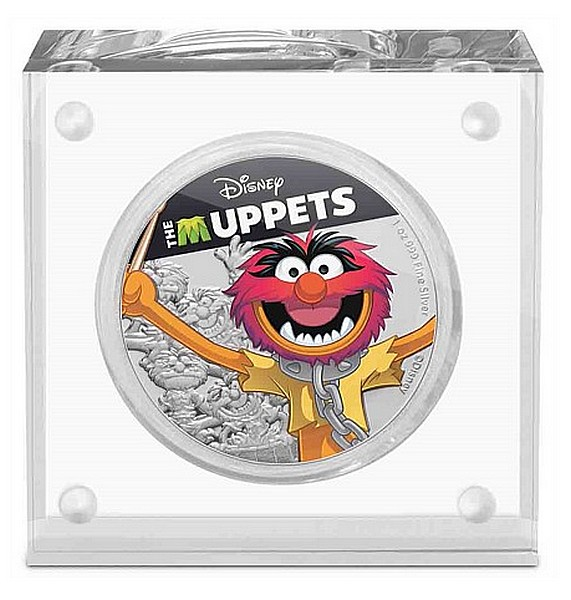 1 oz Ag stříbrná mince Disney The Muppets – Animal