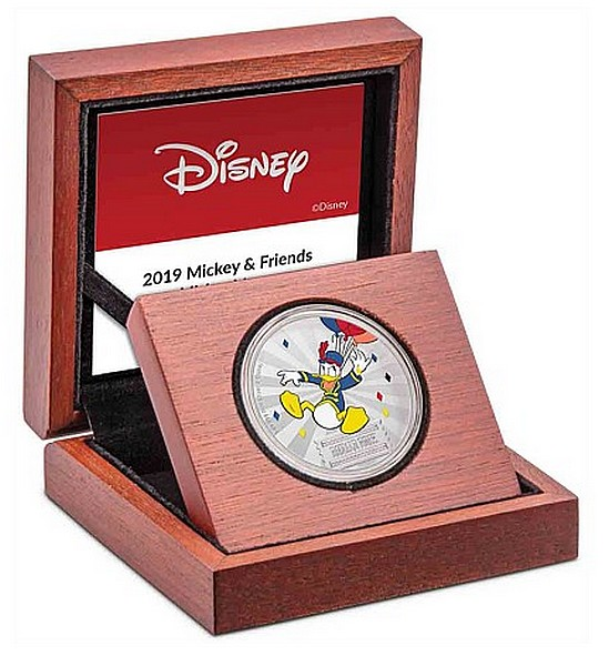 1 oz Ag stříbrná mince Disney Mickey Mouse & Friends Carnival – Donald Duck