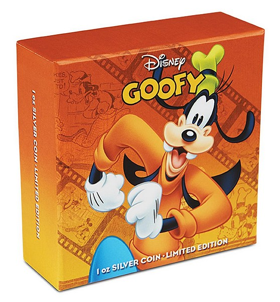 1 oz Ag stříbrná mince NIUE Disney Mickey Mouse and Friends GOOFY