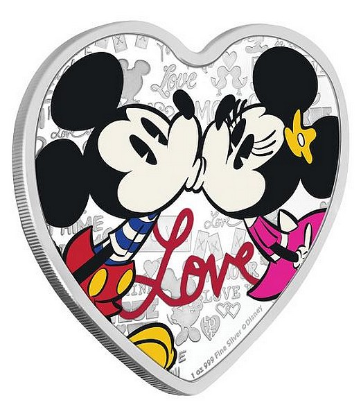 1 oz Ag stříbrná mince Disney Love Mickey Mouse and Minnie Mouse 2019