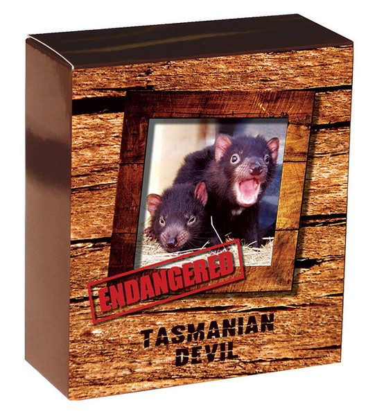 1 oz Ag stříbrná mince Endangered and Extinct Tasmanian Devil TASMÁNSKÝ ČERT