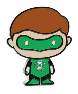 1 oz Ag stříbrná mince Collection DC Comics Series Chibi – GREEN LANTERN