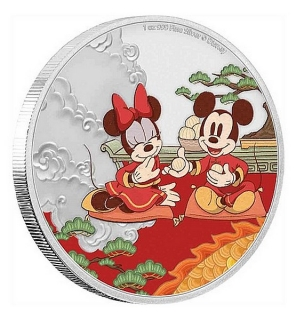 1 oz Ag stříbrná mince Disney Year of The Mouse – Good Fortune PRO ŠTĚSTÍ