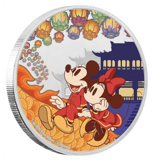 1 oz Ag stříbrná mince Disney Year of The Mouse – Happiness ŠTĚSTÍ