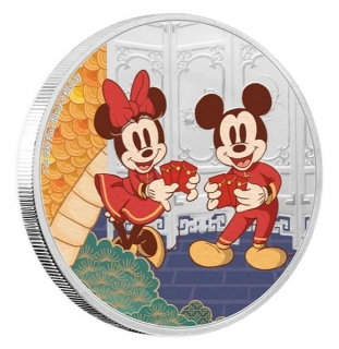 1 oz Ag stříbrná mince Disney Year of The Mouse – Longevity DLOUHOVĚKOST