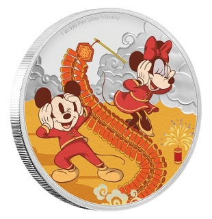 1 oz Ag stříbrná mince Disney Year of The Mouse – Prosperity PROSPERITA