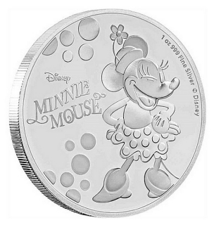 1 oz Ag stříbrná mince Disney Minnie Mouse