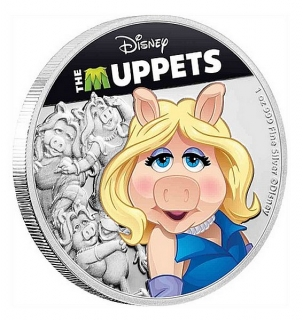 1 oz Ag stříbrná mince Disney The Muppets – Miss Piggy