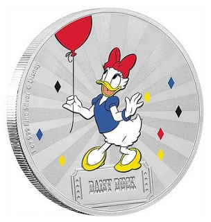 1 oz Ag stříbrná mince Disney Mickey Mouse & Friends Carnival – Daisy Duck