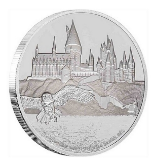 1 oz Ag stříbrná mince Harry Potter Hogwarts Castle – HARRY POTTER HRAD BRADAVICE