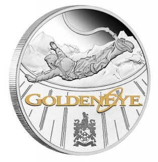 1 oz Ag stříbrná mince James Bond GoldenEye 25th Anniversary