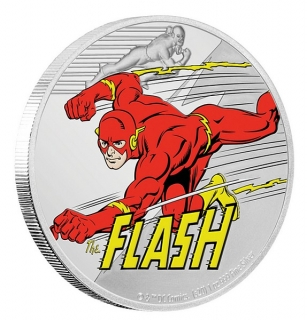 1 oz Ag stříbrná mince JUSTICE LEAGUE™ 60th Anniversary – FLASH