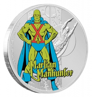 1 oz Ag stříbrná mince JUSTICE LEAGUE™ 60th Anniversary – MARTIAN MANHUNTER