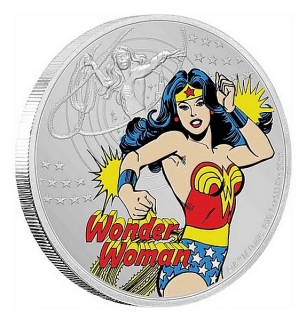 1 oz Ag stříbrná mince JUSTICE LEAGUE™ 60th Anniversary – WONDER WOMAN