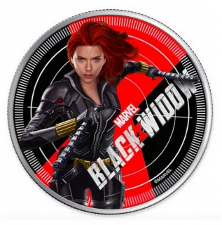 1 oz Ag stříbrná mince Marvel Black Widow