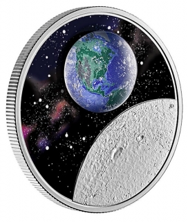 1 oz Ag stříbrná mince Glow in the Dark Coin – Mother Earth – Our Home – PLANETA ZEMĚ SVÍTÍCÍ VE TMĚ