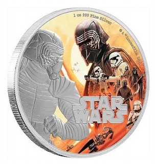 1 oz Ag stříbrná mince Star Wars -The Rise of Skywalker – Kylo Ren VZESTUP SKYWALKERA