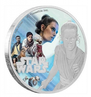 1 oz Ag stříbrná mince Star Wars -The Rise of Skywalker – Rey VZESTUP SKYWALKERA