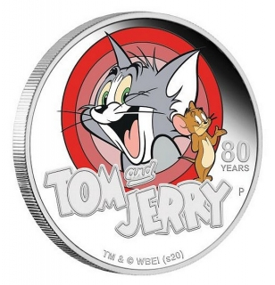 1 oz Ag stříbrná mince Tom and Jerry