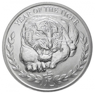 1 oz Ag stříbrná mince Year of the Tiger – Somaliland ROK TIGRA 2010