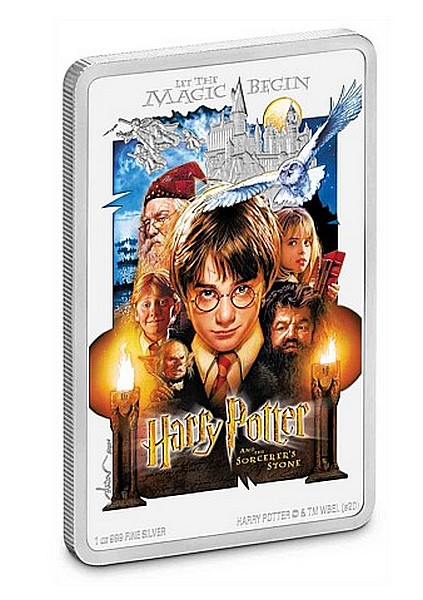 1 oz Ag stříbrná mince Harry Potter The Sorcerer's Stone – HARRY POTTER A KÁMEN MUDRCŮ