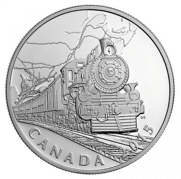 1 oz Ag stříbrná mince Canadian Home Front - Transcontinental Railroad