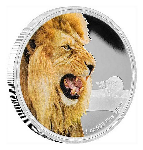 1 oz Ag stříbrná mince Kings of The Continents - African Lion LEV AFRICKÝ