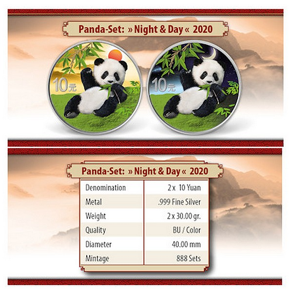 Panda Day and Night set – PANDA DEN A NOC sada 2 mincí (2 x 30g) 2020