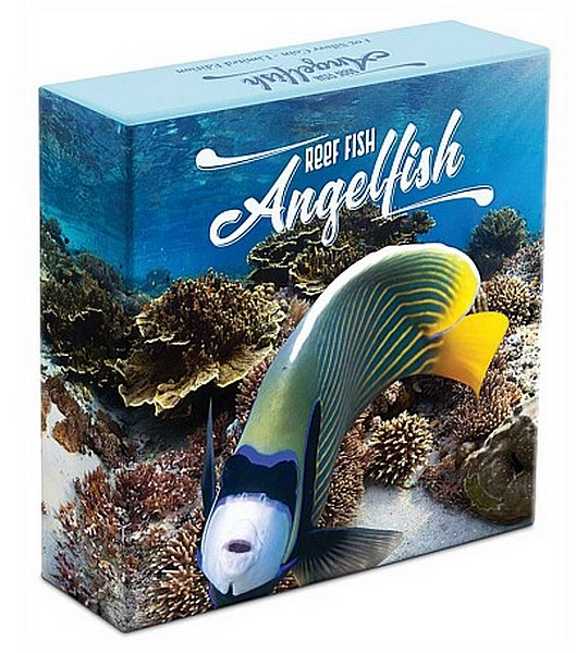 1 oz Ag stříbrná mince Reef Fish - Angelfish