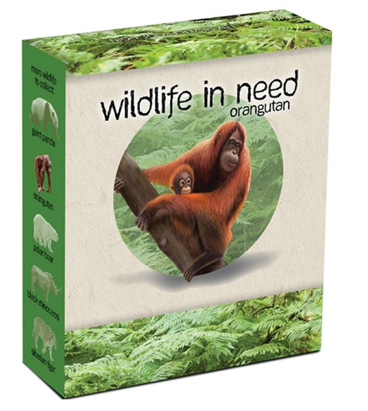 1 oz Ag stříbrná mince Wildlife in Need ORANGUTAN
