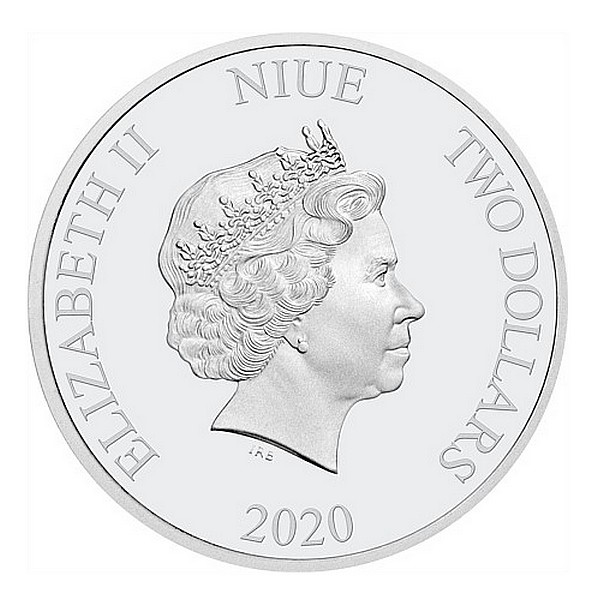 1 oz Ag stříbrná mince Year of the Rat NIUE ROK MYŠI 2020