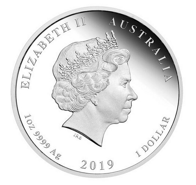 1 oz Ag stříbrná mince Year of the Pig Coloured edition ROK VEPŘE 2019 Lunární série II.