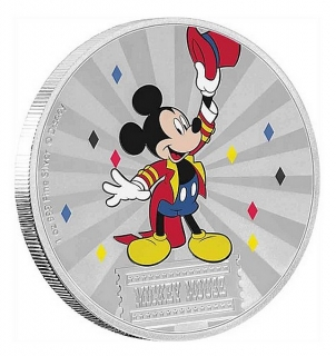 1 oz Ag stříbrná mince Disney Mickey Mouse & Friends Carnival – Mickey Mouse