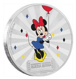 1 oz Ag stříbrná mince Disney Mickey Mouse & Friends Carnival – Minnie Mouse