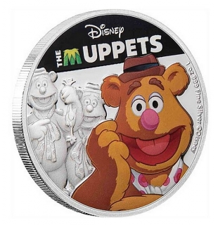 1 oz Ag stříbrná mince Disney The Muppets – Fozzie Bear