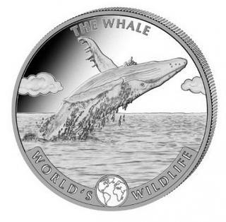 1 oz Ag stříbrná mince World's Wildlife – The Whale VELRYBA