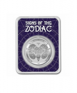 1 oz Ag stříbrná mince Signs of the Zodiac Aries – znamení zvěrokruhu – BERAN