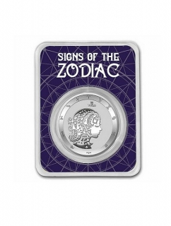 1 oz Ag stříbrná mince Signs of the Zodiac Virgo – znamení zvěrokruhu – PANNA
